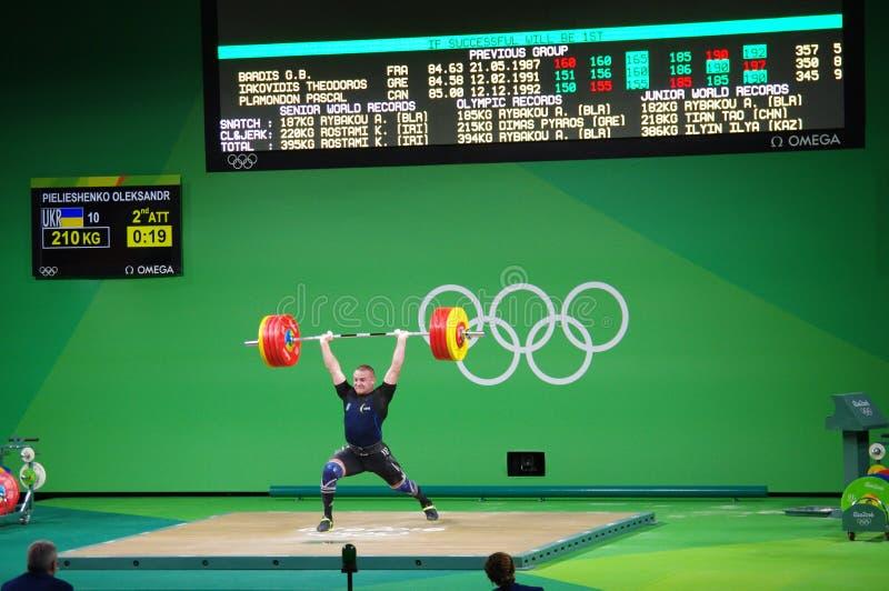 Pulisca - e - lo scatto da Oleksandr Pielieshenko a Rio2016 fotografie stock