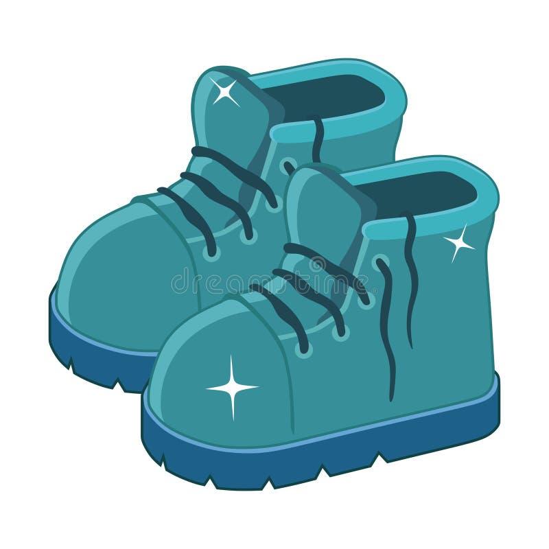 Pulisca gli stivali blu illustrazione di stock