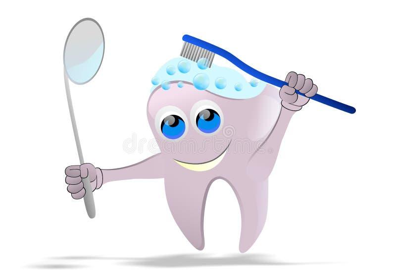 Pulisca il dente illustrazione vettoriale