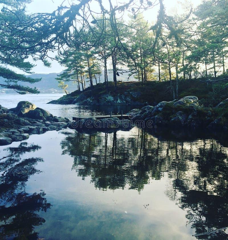 Pulisca il mare Norvegia fotografie stock libere da diritti