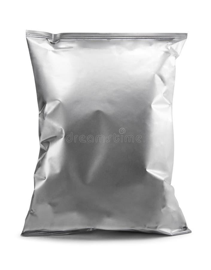 Pulisca l'alluminio dell'imballaggio immagine stock libera da diritti