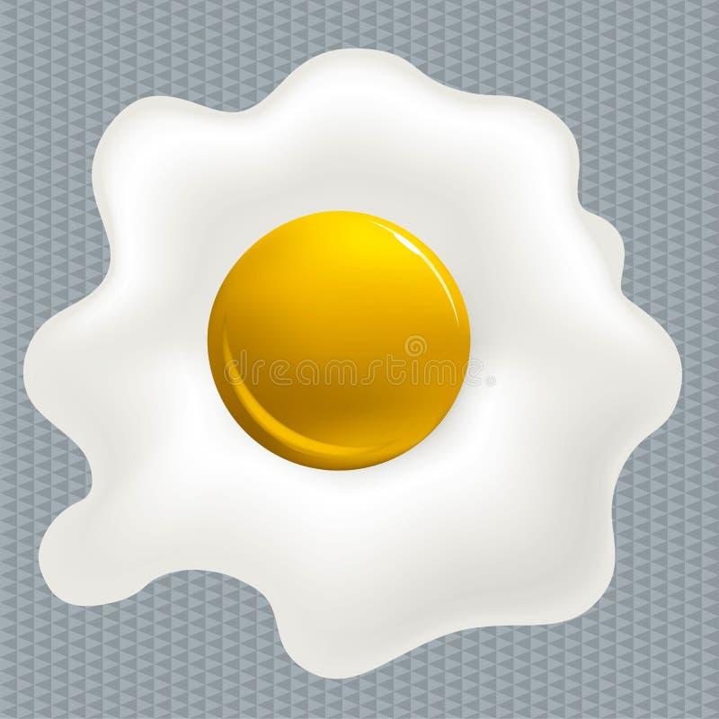 Pulisca l'uovo fritto royalty illustrazione gratis