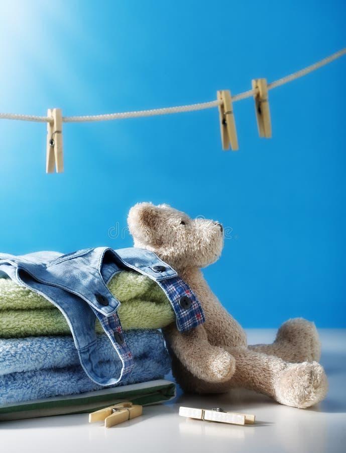 pulisca la lavanderia fotografie stock libere da diritti
