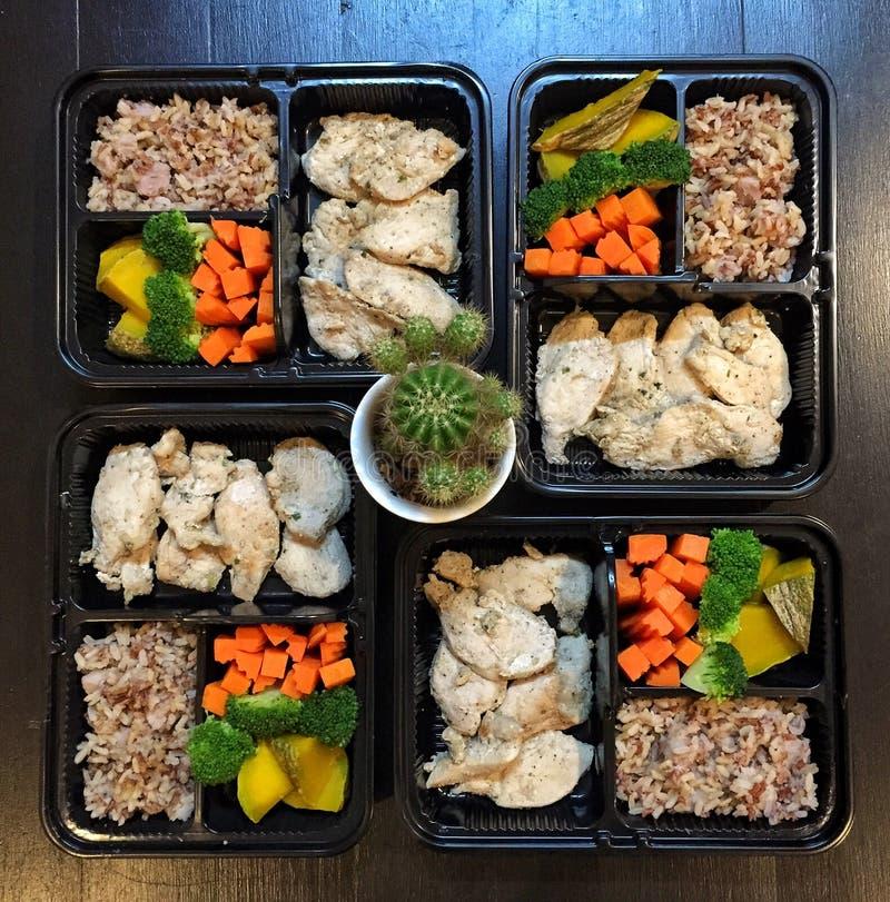 Pulisca la scatola di pranzo dell'alimento fotografia stock libera da diritti