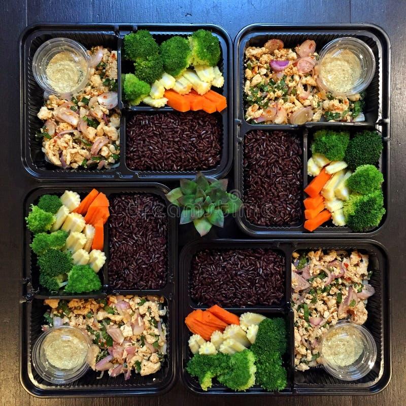 Pulisca la scatola di pranzo dell'alimento fotografie stock libere da diritti