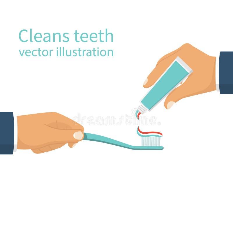 Pulisce i denti Vettore royalty illustrazione gratis