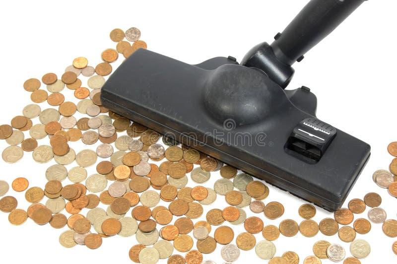 Pulitore dei soldi fotografie stock libere da diritti
