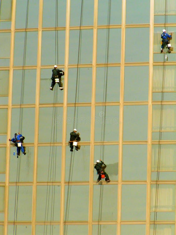 Pulitori di finestra immagini stock libere da diritti