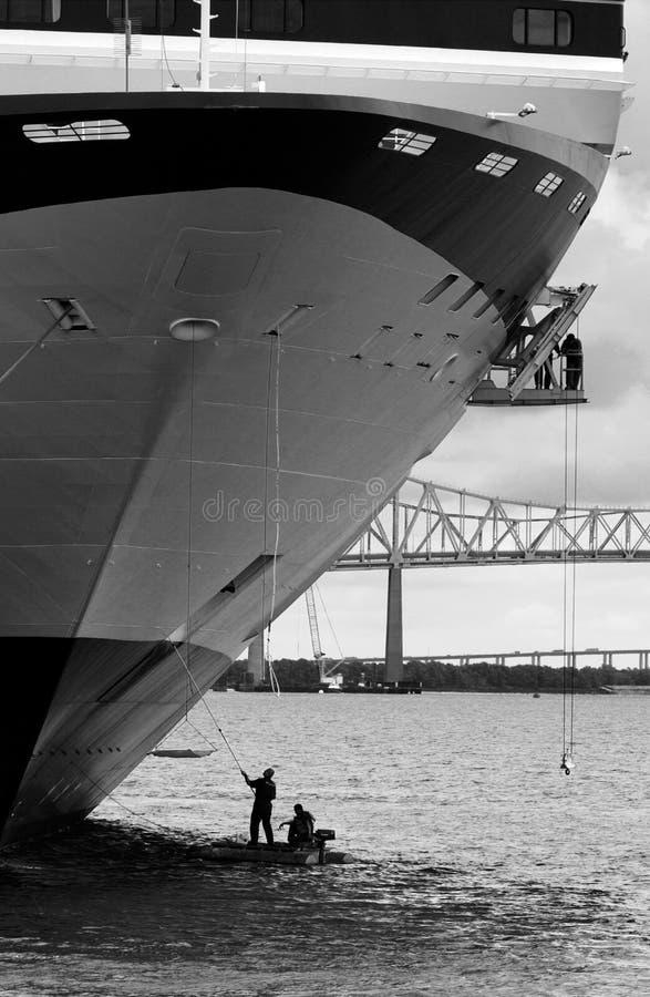 Pulitura della nave da crociera immagine stock libera da diritti