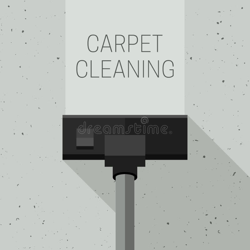 Pulizia del tappeto con l'aspirapolvere royalty illustrazione gratis