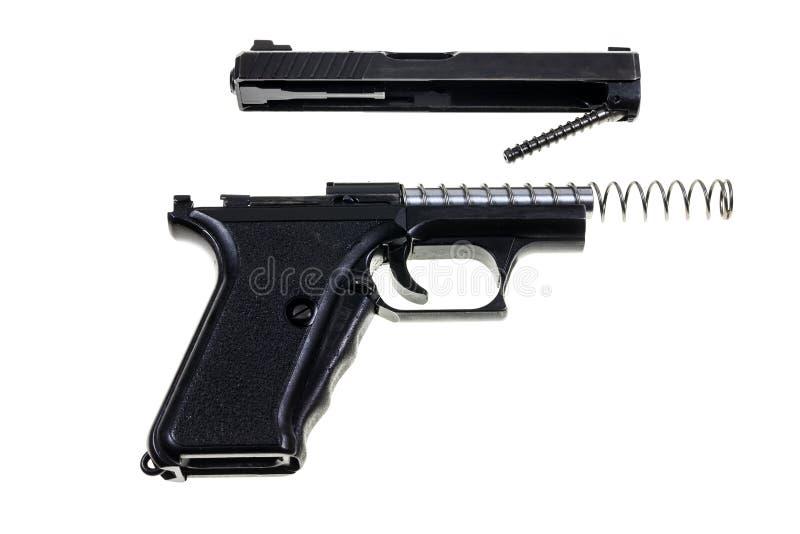 Pulizia della pistola immagini stock libere da diritti