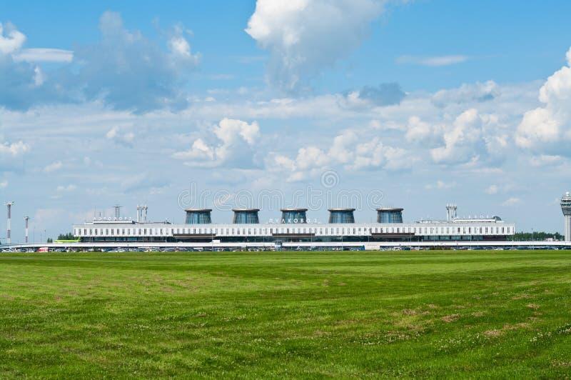 Pulkovo airport in Saint-Petersburg, Russia stock photo