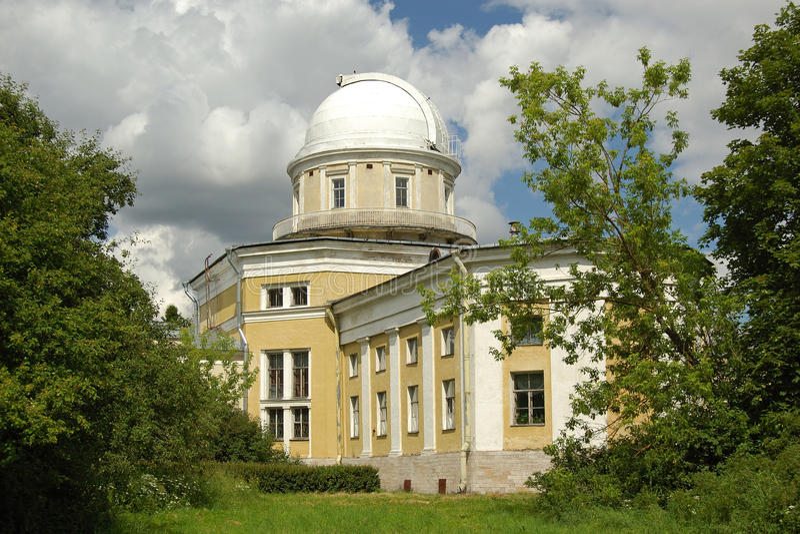 Pulkovo astronomisch waarnemingscentrum, Rusland stock foto's