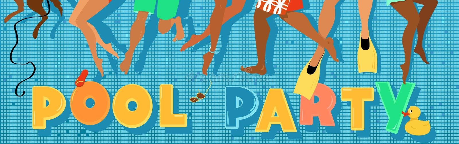 Pull party banner royalty free illustration