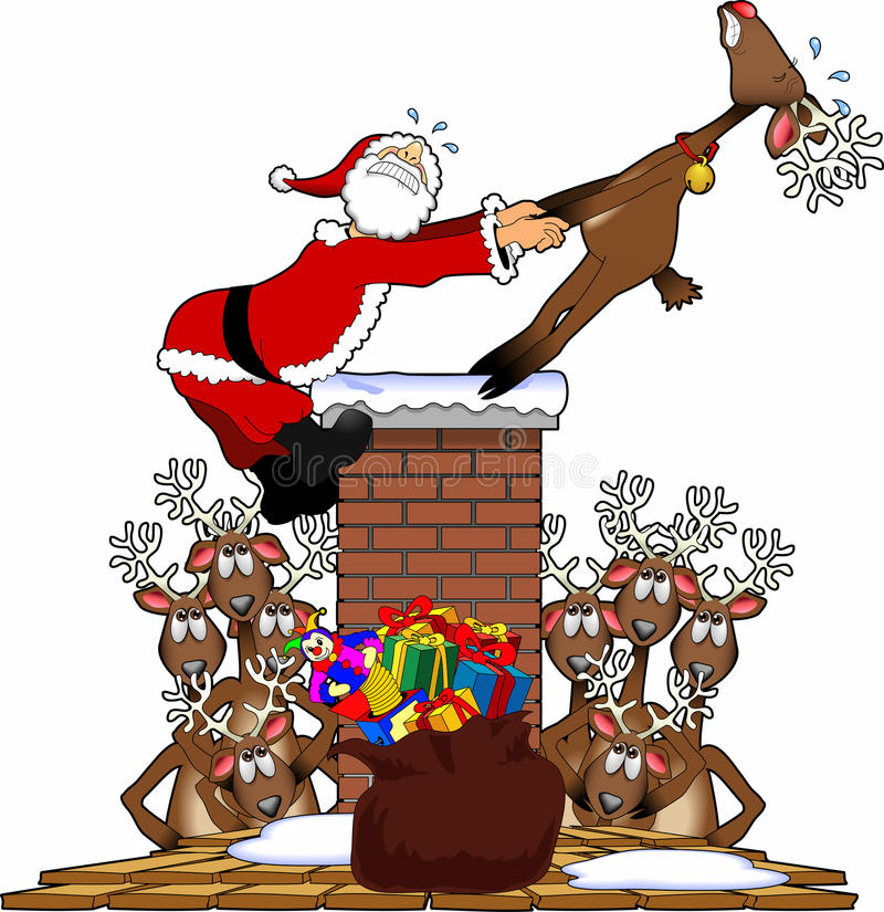 Download Pull_santa2 stock illustration. Image of kringle, rudolph - 16751323