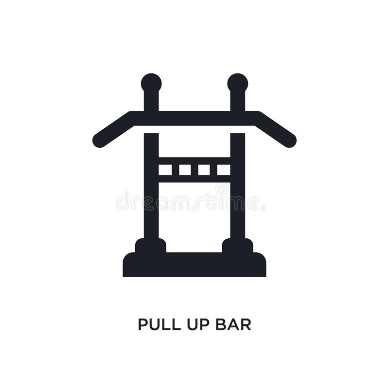 Pull up bar isolated icon. simple element illustration from gym equipment concept icons. pull up bar editable logo sign symbol. Design on white background. can vector illustration