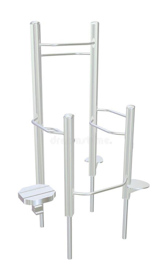Pull-up Bars Or Shower Rack, 3D Illustration Royalty Free Stock Photo