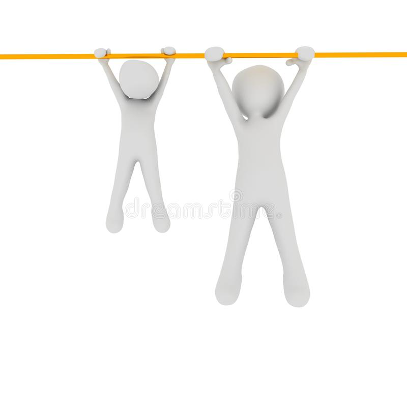 Free Pull-up With Child Royalty Free Stock Photos - 31178468