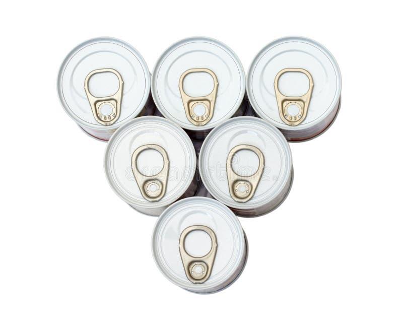 pullcirkel för aluminum cans royaltyfri bild