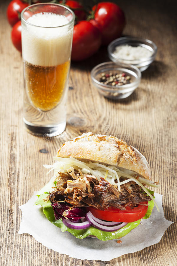 Pulled pork stock images