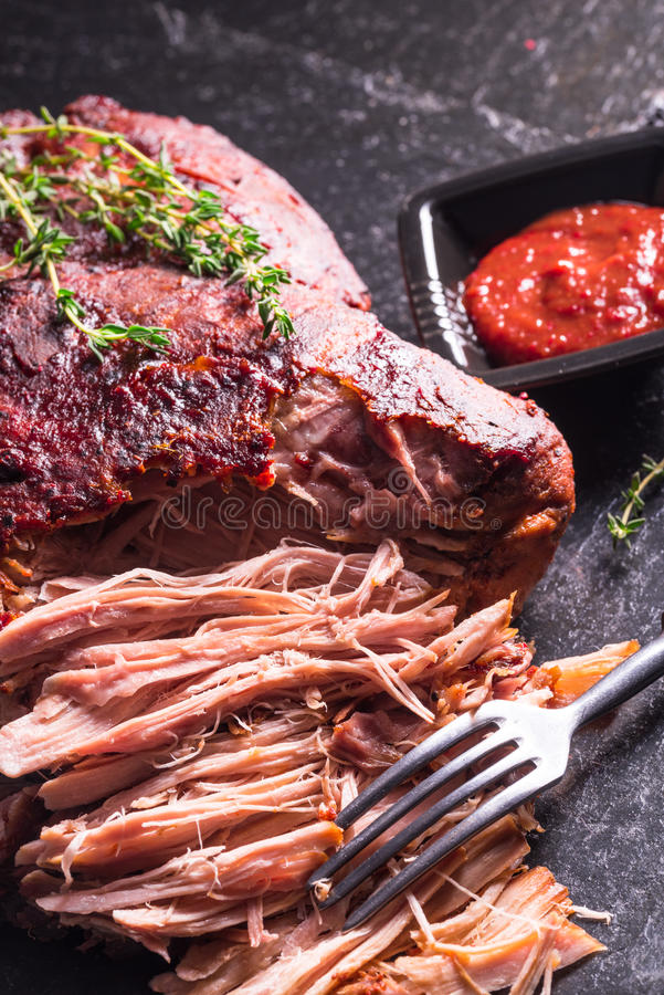Pulled Pork. A fresh and tasty Pulled Pork stock images