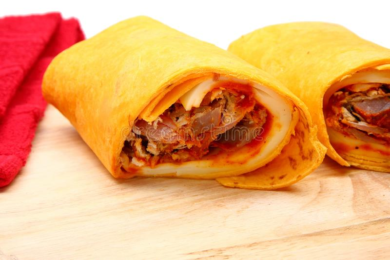 Download Pulled Pork And Provolone Wrap Stock Image - Image: 4898665
