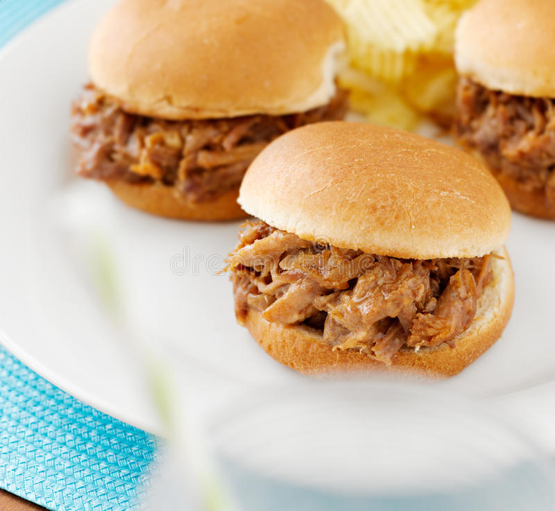 Download Pulled Work Sandwich Sliders Close Up Stock Photo - Image: 26452612