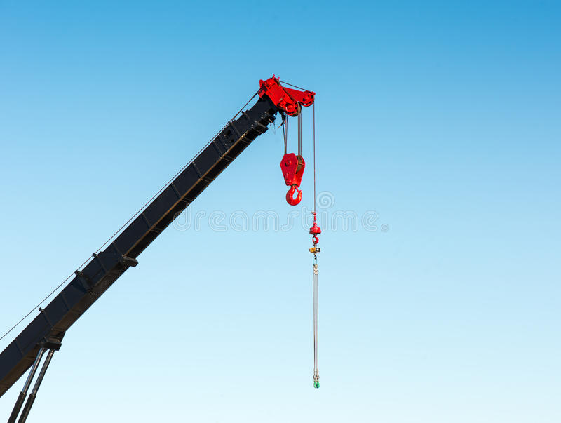 Pulley crane royalty free stock image