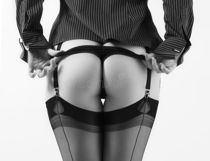 Download Pulling knickers down stock photo. Image of thong, striptease - 18393800