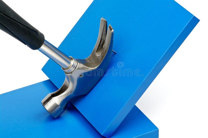 Pulling Nail Out Royalty Free Stock Photo