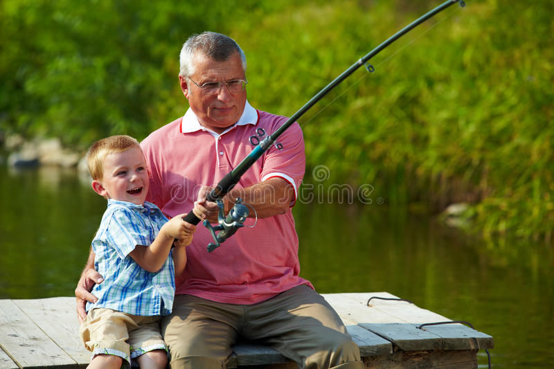 Download Pulling rod stock photo. Image of child, grandson, fisher - 15738372