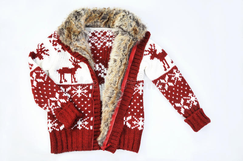 Pullover mit Pelz lizenzfreie stockfotos