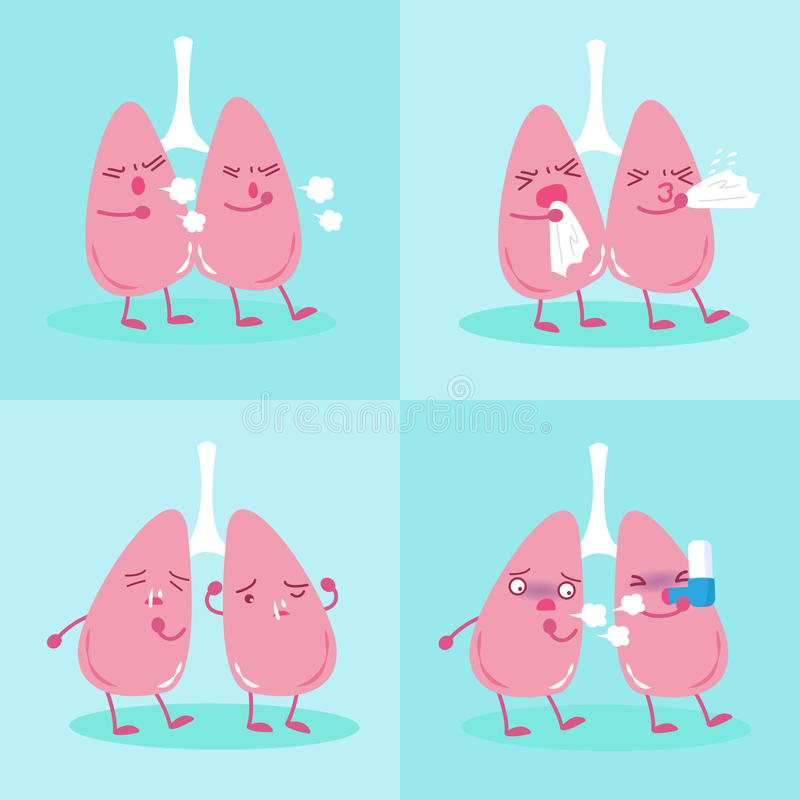 Pulmão com conceito da saúde ilustração royalty free