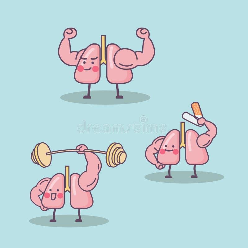 Pulmón de la salud libre illustration