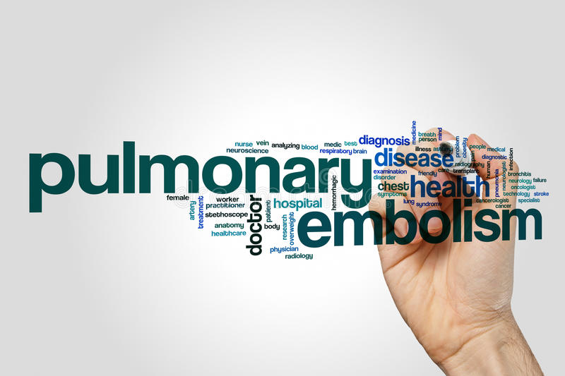 Pulmonary embolism word cloud concept stock image
