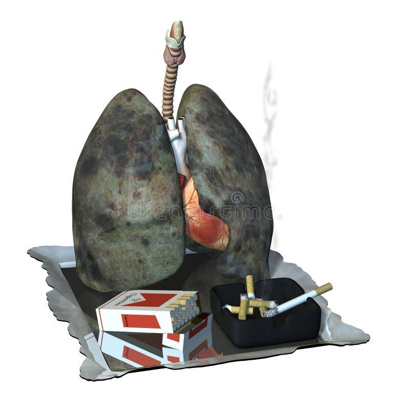Pulmones en las drogas ilustración del vector