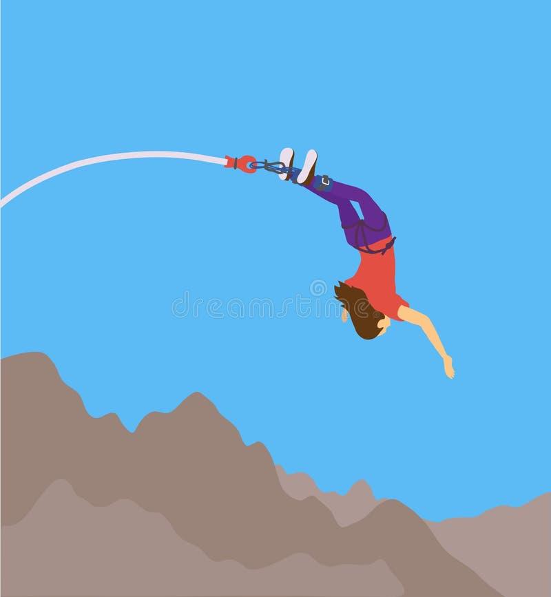 Pulo com uma corda ilustração royalty free