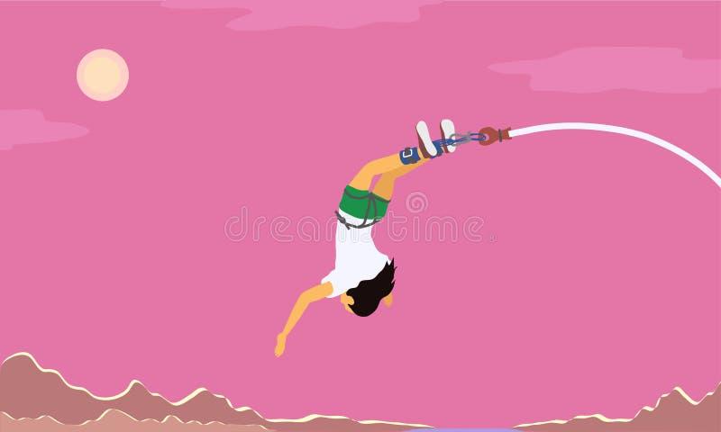Pulo com uma corda ilustração stock