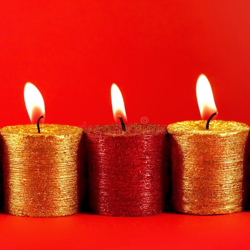 Pulo da fé - luzes da vela do feriado fotos de stock royalty free