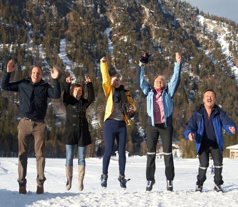Pulo no inverno imagens de stock royalty free
