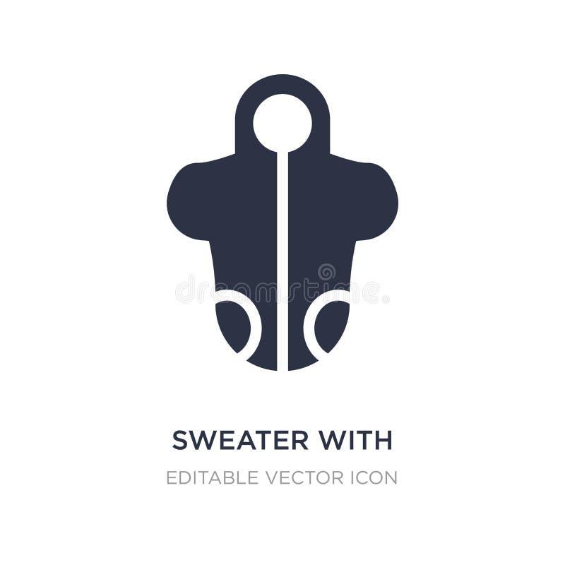 pulower z kieszeniową ikoną na białym tle Prosta element ilustracja od mody pojęcia royalty ilustracja