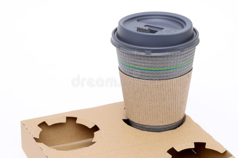 Pulp carrier and coffee cup stock images