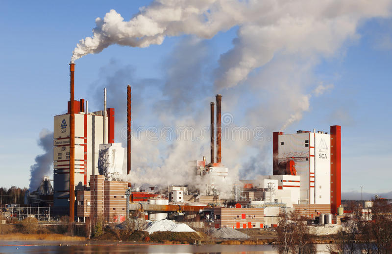 Pulp mill royalty free stock photo