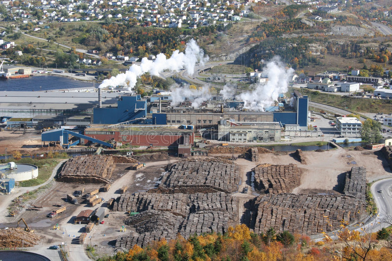 Pulp & Paper Mill royalty free stock photos