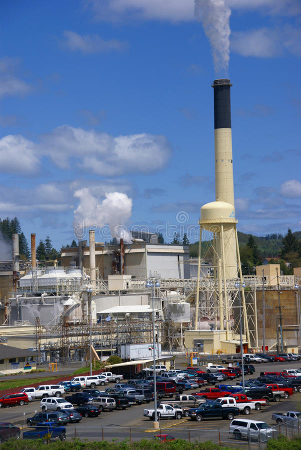 Pulp and paper mill royalty free stock images
