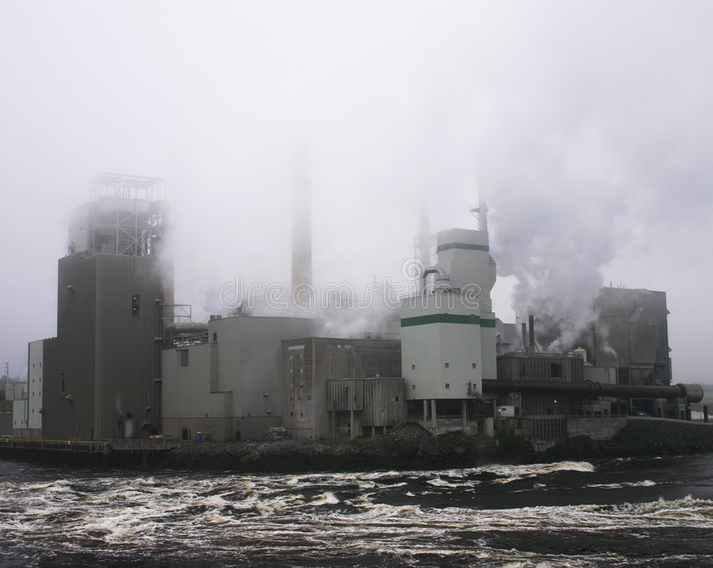 Pulp and Paper Mill stock photo