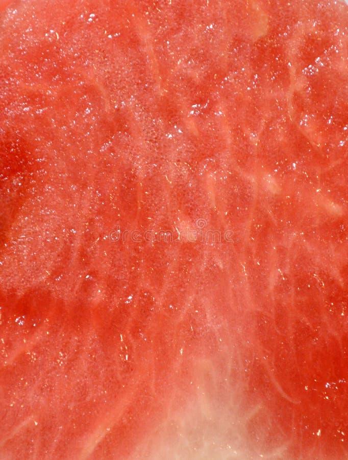 Pulpe rouge juteuse de pastèque, beau fond de fruit images stock