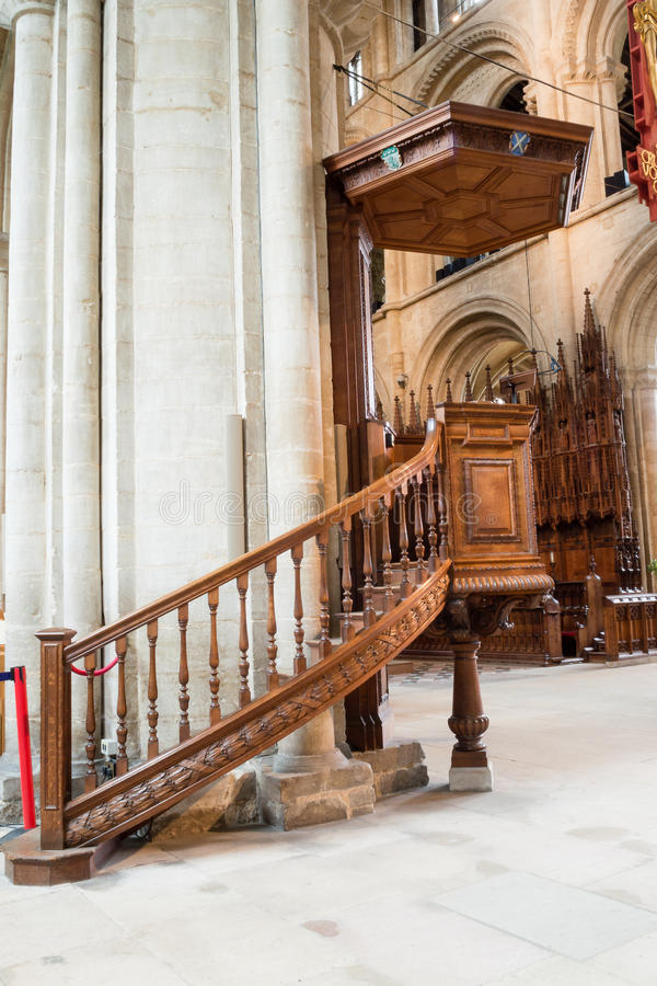Pulpit καθεδρικών ναών Peterborough στοκ εικόνες με δικαίωμα ελεύθερης χρήσης