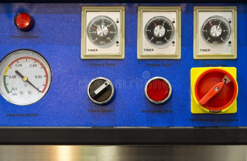 Pulpit operatora pieczęciowa maszyna obraz stock