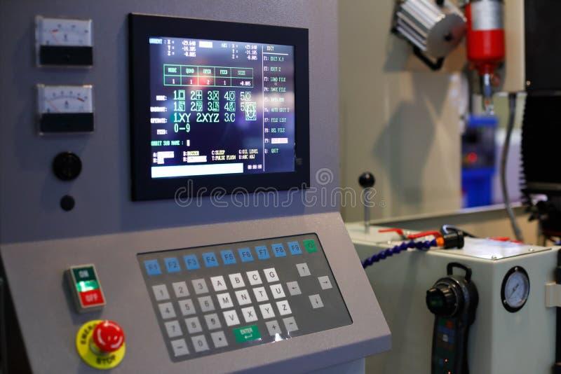 Pulpit operatora przemysłowy CNC wyposażenie zdjęcie stock